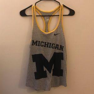 Nike Dri Fit Michigan University tank top